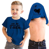 t shirt dinosaure masque t rex demo