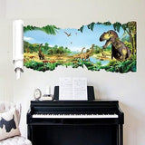 decoration dinosaure stickers mural cretace piano