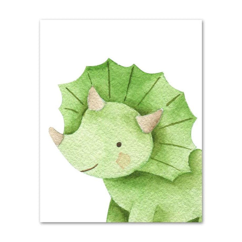 decoration dinosaure tableau bebe triceratops