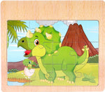 puzzle dinosaure 2 ans bebe triceratops