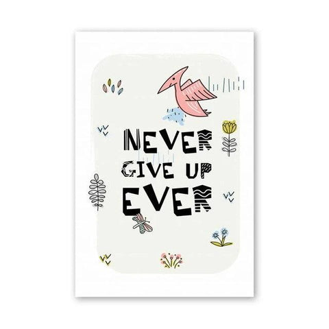 decoration dinosaure tableau enfant never give up
