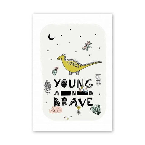 decoration dinosaure tableau enfant young and brave
