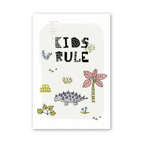 decoration dinosaure tableau enfant kids rule