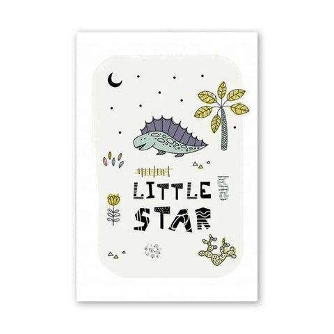 decoration dinosaure tableau enfant little star