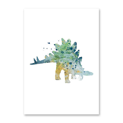 decoration dinosaure tableau enfant craterosaurus colore