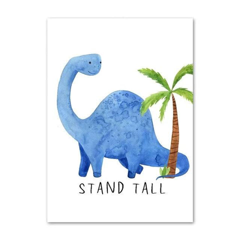 decoration dinosaure tableau enfant diplodocus stand tall