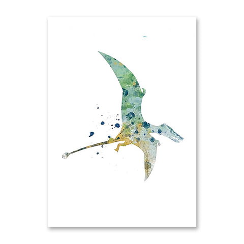 decoration dinosaure tableau enfant pterodactyle colore