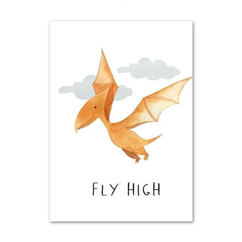 "decoration dinosaure tableau enfant pterosaure ""Fly High"""