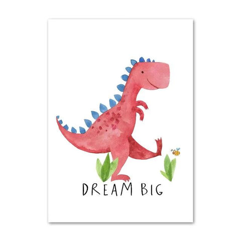 decoration dinosaure tableau enfant t rex dream big
