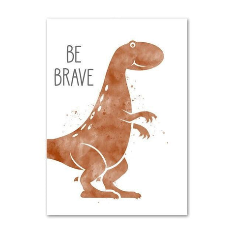 decoration dinosaure tableau enfant t rex be brave