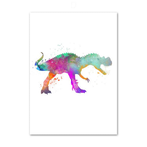 decoration dinosaure tableau enfant albertosaurus colore