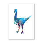 decoration dinosaure tableau enfant archeopteryx colore