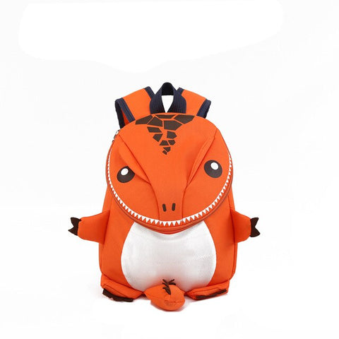 sac dinosaure orange