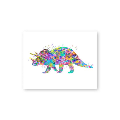 decoration dinosaure tableau enfant nedoceratops colore