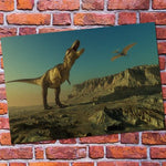 decoration dinosaure poster allosaure