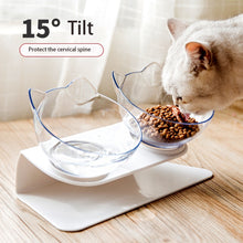 Load image into Gallery viewer, Cats Double Bowls With Raised Stand Non Toxic Corrosion Resistant Durable Pet Food And Water Bowl Pet Feeder Pet Supplies