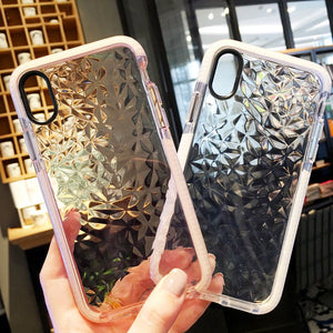 Clear Geometric Transparent Soft Phone Case For iPhone X 7 7 Plus 6 6S Plus 8 8Plus  Back Cover