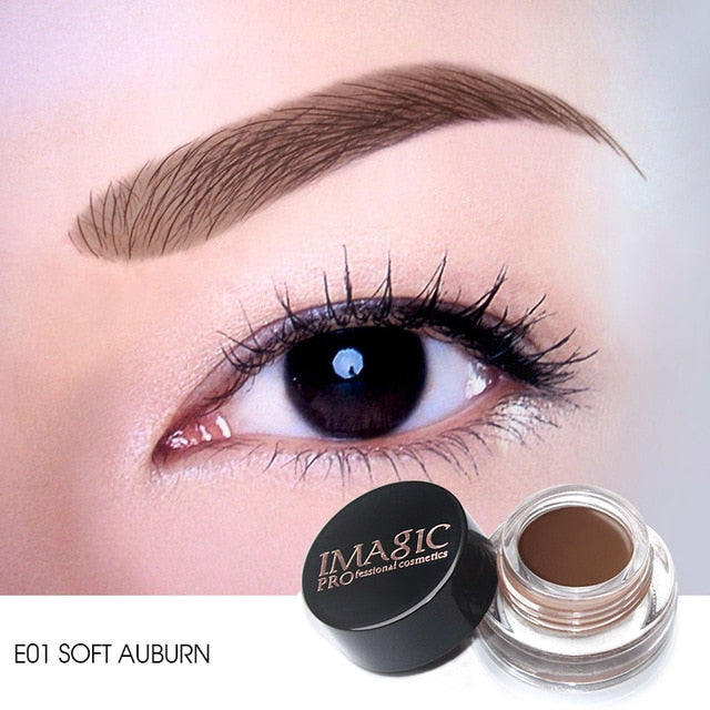 IMAGIC New Arrivals  Professional Eyebrow Gel 6 Colors High Brow Tint Makeup Eyebrow Brown Eyebrow Gel With Brow Brush Tools