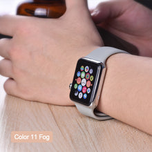 Load image into Gallery viewer, ProBefit soft Silicone Sports Band for Apple Watch 4 3 2 1 38MM 40MM 42MM 44MM Bands Rubber Watchband