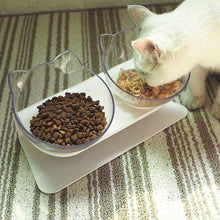 Load image into Gallery viewer, Pet Cats Transparent Bowl with Holder Anti-slip Cat Food Dish Pet Feeder Water Bowl Perfect For Cats And Small Dogs Supplies