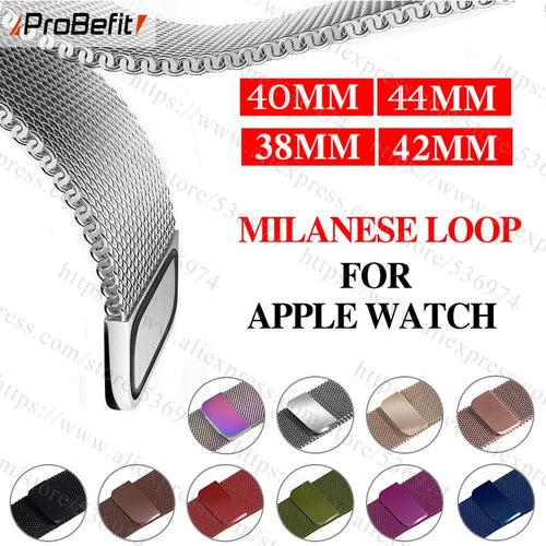 Milanese Loop Bracelet Stainless Steel band For Apple Watch series 1/2/3/4 42mm 38mm