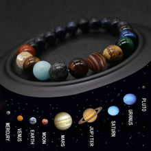 Load image into Gallery viewer, 2019 Eight Planets Bead Bracelet Men and Woman Natural Stone Universe Yoga Chakra Solar Bracelet