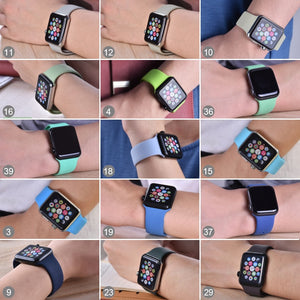 ProBefit soft Silicone Sports Band for Apple Watch 4 3 2 1 38MM 40MM 42MM 44MM Bands Rubber Watchband