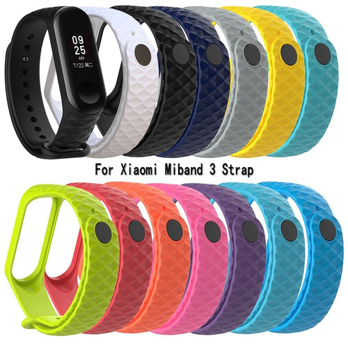 For Xiaomi Mi Band 3 TPU Colorful Strap Wristband Smart Sport Watch