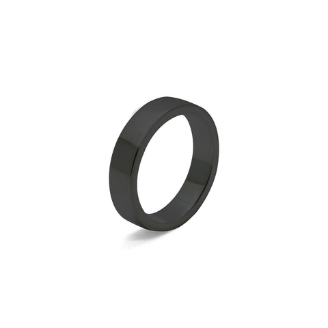 Basique - Black Rhodium Ring