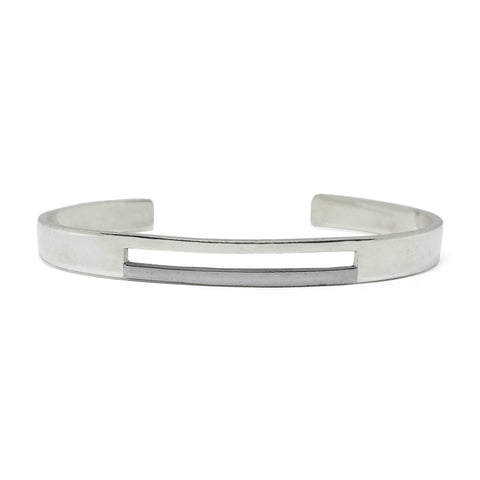 Binary - Cuff - Grey Rhodium