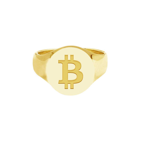 Bitcoin - 18 Karat Solid Gold Ring