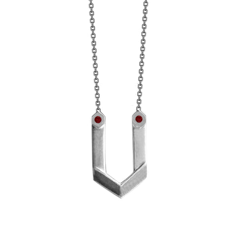 Hexagone - Necklace - Ruby