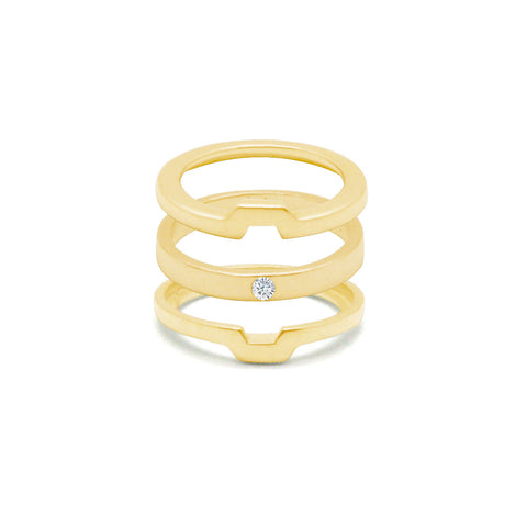 Morphosis - Gold Ring - Zirconia