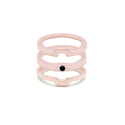 Morphosis - Pink Gold Ring - Onyx
