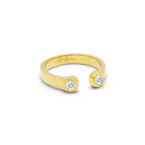 Wrench - Gold Ring - Zirconia