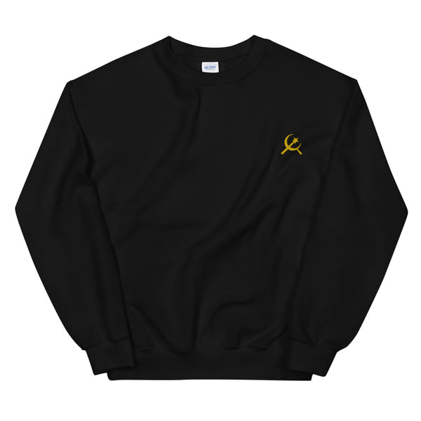 Club Crew Neck Sweatshirt in Navy and Black