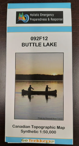 Topographic Map - Buttle Lake (092F12)