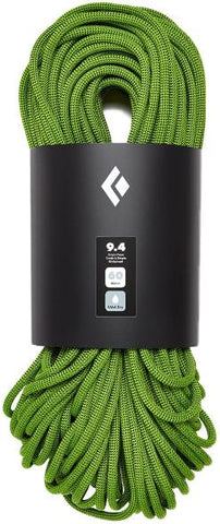 Black Diamond - 9.4 Dry Climbing Rope, 60m, Green