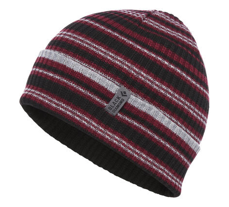 Black Diamond - Cardiff Beanie, Bordeaux-Gray Stripe, One Size