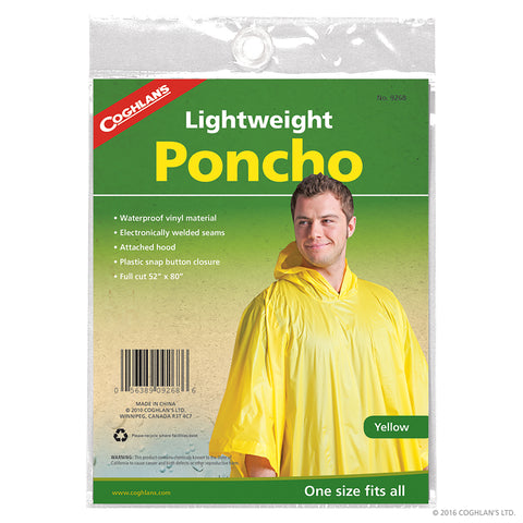 Coghlan's - Lightweight Poncho (Yellow)