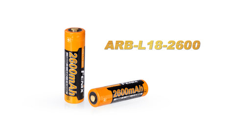 Fenix - ARB-L18 - 2600 mAh Rechargeable Battery (2 Pack)