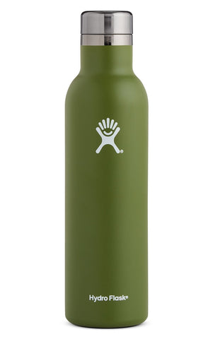 The Hydro Flask new 25 oz Wine Bottle makes it easy to bring your favorite vintages along on any adventure.