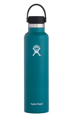 Hydro Flask - 24oz Standard Mouth Bottle. A little more hydration lets you have a little more fun. From outdoor mountain trail heads to indoor morning yoga practice, the 24 oz Standard Mouth bottle is just the right size for staying hydrated before, during, and after activity.