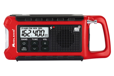 Midland - Emergency Compact Crank Radio (ER210). Great to add to your emergency kit or take out on your next outdoor adventure