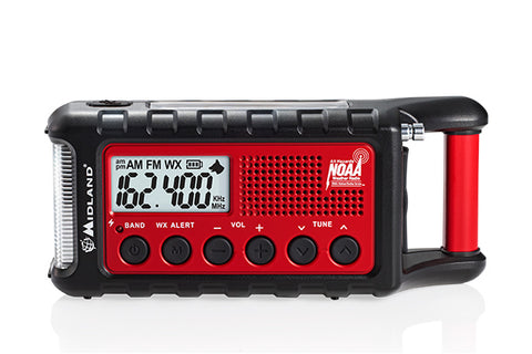 Midland - Emergency Crank Radio (ER310). Great addition to your emergency kit or through into your pack on your next outdoor adventure