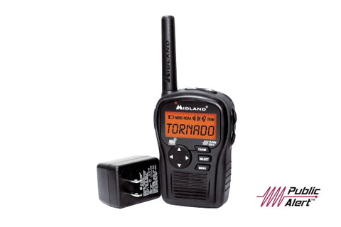 Midland - Portable Emergency Weather Alert Radio. Great addition to your emergency kit or taking on your next outdoor adventure. From hiking the backcountry to kayaking and canoeing the wonderful lakes, rivers and oceans.