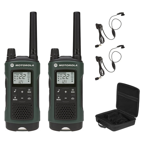 Motorola - T465 Rechargeable Two-Way Radios (Dual Pack With Accessories), great to take along on outdoor adventures or add to your emergency / survival kit