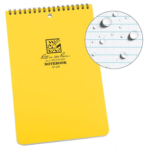 Rite in the Rain - TOP-SPIRAL NOTEBOOK (No. 169 - 6 x 9)