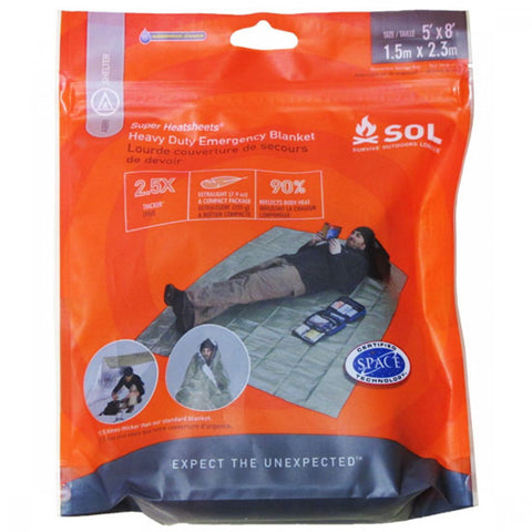 SOL - Heavy Duty Emergency Blanket (5 x 8)