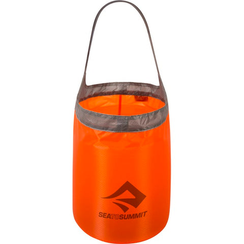 Sea to Summit - Ultra-Sil Folding Bucket. Now there is no need to take a big bulky bucket on your outdoor adventures, this folding bucket is compact but opens up to give you the ability to haul 10L of water from the stream to camp. Would also make a great addition to your emergency / survival kit.